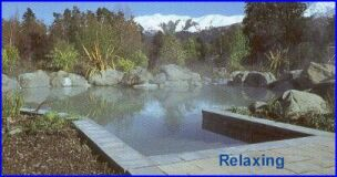 relax in the hot pools
